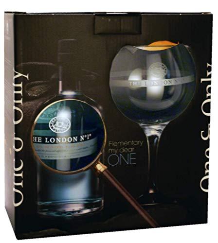 The London Gin Co. No. 1 Original Blue mit Copa Glas - 47{2b00cc11fb1341f045f739da09c38296f9e089ee85a49b96e505128a5ad6b30c} 700 ml