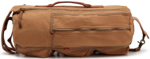 Zenness Leinwand Freizeit Sporttasche Reisegepäck-Taschen für Männer und Frauen (Kaffee) Khaki