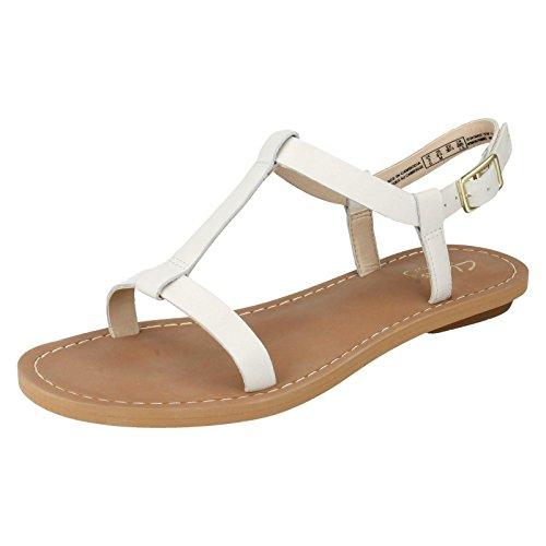 Clarks Voyage Hop, Sandali donna bianco bianco, bianco (bianco), 43 D EU