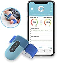 Wellue BabyO2 Baby Wearable Blood Oxygen Saturation Monitor, with Alarm in APP, Track O2 Level & Heart Rat