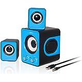 Advance SOUNDPHONIC 2.0 Stereo Multimedia System Computer Lautsprecher blau - gut und günstig