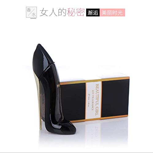 Perfumes para Mujeres - 30ml Lady Zapatos de Tacón Alto Design Floral Perfume, Fragancia de Larga Duración Perfume. (Negro y Rojo) (Color : Black)