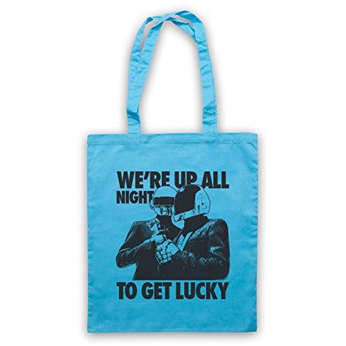 Inspiriert durch Daft Punk Get Lucky Inoffiziell Umhangetaschen Hellblau
