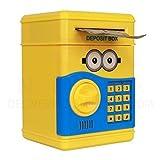 #8: Mini Piggy Bank Safe Box Money Coin Atm Bank Toy Atm Machine Kids Gift Money Box Digital Saving Boxes (Minion)