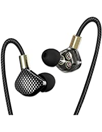 SamMoSon in Ear Kopfhörer, Ohrhörer Mikrofon Lautstärkeregler Noise Reduction Deep Bass Inklusive Rufannahmetaste KD6 Kopfhörer für iPhone Samsung Smartphones Tablets MP3-Player usw