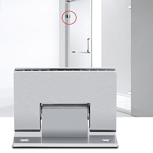 Dusche Tür Scharnier, Edelstahl Dusche Glas Tür Scharnier 8-10mm 90Grad Halterung rahmenlose Wand zu Glas Dusche Tür Wandhalterung Scharnier