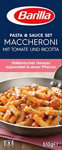Barilla Pasta & Sauce Set für Maccheroni Tomate und Ricotta - 1er Pack (1x510g)