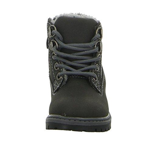 Sneakers 6206-18 Jungen Schnürstiefelette Warmfutter Schwarz (Schwarz)