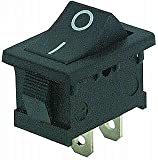 ETT Mini-Wippenschalter 2-polig, schwarze Wippe (0/1),