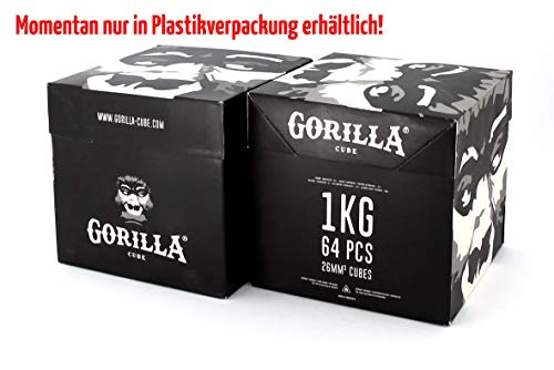 Gorilla Cube ESP Shisha Kohle 2kg Box - 26mm Cubes -