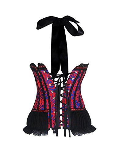 Burvogue Damen Gothik Bügel Spitze Halloween Korsagen & Bustiers Bild