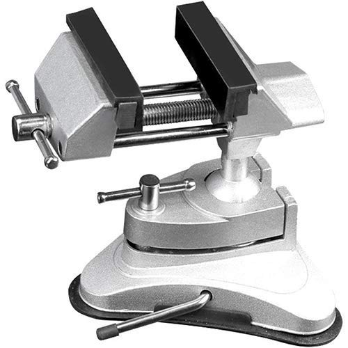 QTDH Verstellbarer Schraubstock - Tragbarer Mehrfach-Schwenk-Vakuum-Schraubstock - Für Handwerk, Modellbau, Elektronik