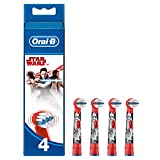Oral-B Kids Stages Star Wars Replacement Red Toothbrush Heads, Refills for Electric Toothbrush, Suitable for Children Aged 3-6 Years, Pack of 4