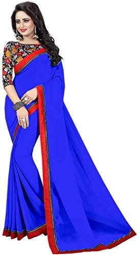 Indian bollywood wedding saree indisch Ethnic hochzeit sari new kleid damen casual tuch birthday crop top mädchen georgette women plain traditional party wear readymade Kostüm -
