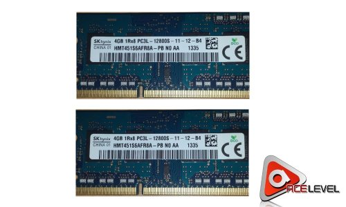 Hynix 8GB 2x4GB PC3-12800 DDR3-1600MHz non-ECC Unbuffered CL11 204-Pin SoDimm 1.35V Low Voltage Single Rank Memory Module Mfr P N HMT451S6AFR8A-PB
