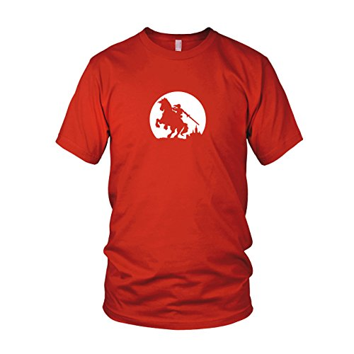 Link on Epona - Herren T-Shirt, Größe: L, Farbe: (Legend Of Zelda Ocarina Of Time Link Kostüm)