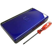 Ersatz Gehäuse Case Schale Komplett Nintendo DS Lite cobaltblau + Tri-Wing Schraubendreher + Gelenk Scharnier