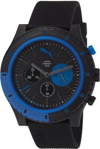 Puma - PU103221001 - Motion - Montre Homme - Quartz Chronographe - Cadran Multicolore - Bracelet Plastique Noir