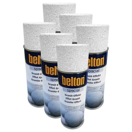 6 x Belton Granit-Effekt-Spray (alle Farben) 0,4l - FARBWAHL Granit-Effekt-Farbton Granit-Weiß