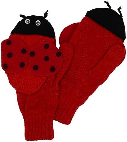 Kidorable Original Gebrandmarkt Marienkäfer Handschuhe für Mädchen, Jungen, Kinder - Mittel