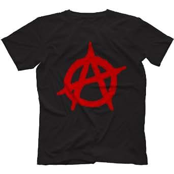 Anarchy Punk T-Shirt 100% Cotton, Black, Small