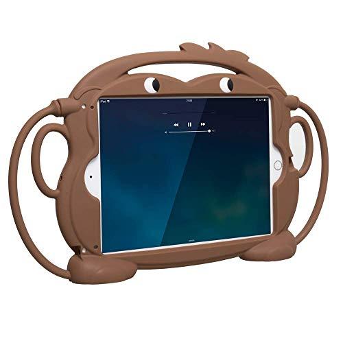 Sileu Schutzhülle für Tablet und iPad, aus Silikon, stoß- und stoßfest, unzerbrechlich, kann an der Kopfstütze des Autos aufgehängt Werden, Braun 9.7 pulgadas braun