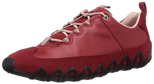 ECCO Dayla Low-Top Sneaker, Donna, Rosso(Chili Red/Chili Red 55183), 40