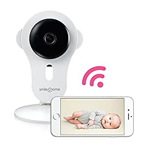 smilehome hd 720p video babyphone indoor wifi baby monitor berwachungskamera drahtlose ip. Black Bedroom Furniture Sets. Home Design Ideas