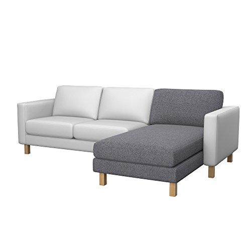 Soferia - Bezug fur Ikea KARLSTAD Anbau Recamiere, Naturel Grey