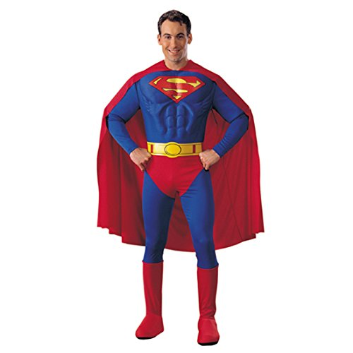 Superman Kostüm L 52/54 Superhelden Supermankostüm Supermann Outfit Verkleidung Herren Männer (Mann Superman Kostüm)