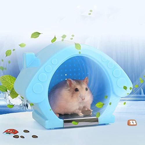CampHiking Hamsterkäfig Kühlhaus Raum Hamster Nest Kleines Haustier Besonderer Goldener Bär Iglu mit Eisbeutel Für Sommerkühlung