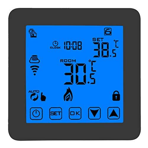 FTVOGUE Thermostat Programmierbares Smart WiFi Temperaturregler LCD Digital Touch Screen Wirless Thermostat für Heizkessel