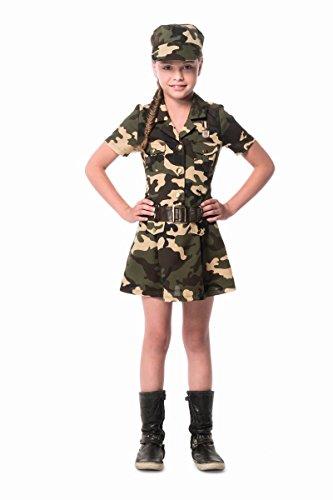 Kinder Kostüm Armee Soldatin Camouflage Karneval Fasching Gr.140