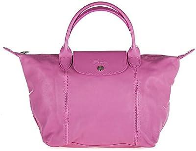 Longchamp bolso de mano para compras en piel mujer nuevo rosa