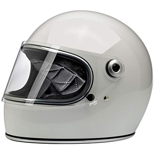 Biltwell Gringo S - Casco integral para motocicleta, color blanco brillante