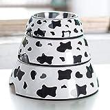 Rimovibile in acciaio inox pet ciotola gabbia per cani con bullone titolare appeso acqua cibo alimentatore Coop tazza per gatto cucciolo di uccelli animali - mucca l