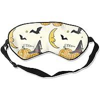 Schlafmaske, Halloween-Muster, bequem, tiefes Augenmaske, leicht, für Nacht, für Reisen und Flugzeug (Halloween-Muster) preisvergleich bei billige-tabletten.eu