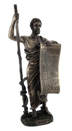 Unbekannt Braunen Hippokrates (Vater der Medizin) Statue Betrieb hippokratischen Eid (Hippokrates-statue)