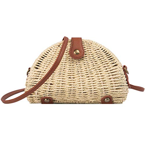 BURFLY Damen Vintage Handgestrickte Mini Car Messenger Bag Schultertasche Bohemian Style Casual Bag