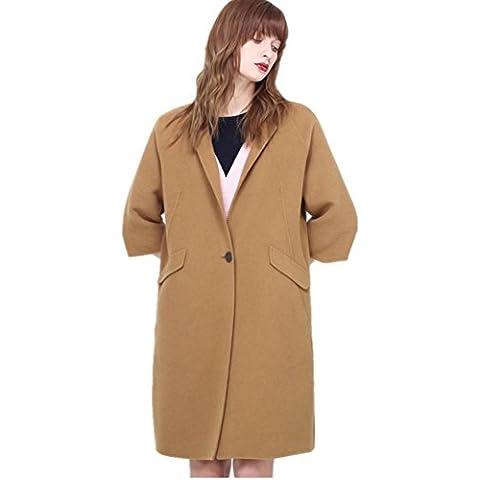 ZZHH Cappotto Donne in pile miscelazione lana cappotto Trench Coat capispalla . l