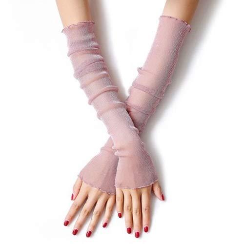Pink Lace Fingerlose Handschuhe - Vinteen England Dior Sonnencreme Ärmel weibliche