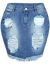 Amazon.fr   jeans - Jupes   Femme   Vêtements 04392e0aac1