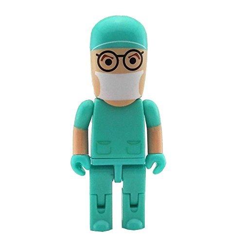 Aneew USB-Stick im Krankenschwester-, Doktor- oder Chirurgen-Design, 16 GB Green Doctor 16 GB