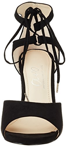 Another Pair of Shoes Siennae1, Sandali con Zeppa Donna Nero (Black01)