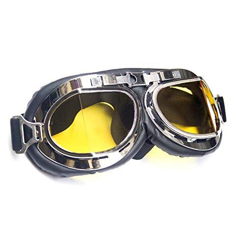Wide Angle Retro Goggles - Yellow Glass B-EG24