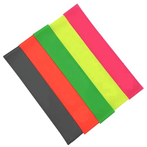 SailorMJY Krafttraining Fitnessbänder,Terra Band, Fitness Bänder 5-teiliges Set - Fluoreszierende Farbe, Gedrungener Gürtel, Weibliche Hüft-Fitness-stärke
