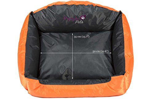 Dog Bed, Dog Cushion, Puppy Bed, Dog Pillow, Dog Sofa, Dog Baskets, Water resistant, Easy Clean, Purple-Pets 'Modern' 2