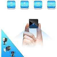 Bluetooth Mini Camera Espion,MHDYT HD 1080P Camera Surveillance WiFisans Fil avec Bluetooth Speaker,Vision Nocturne et Detecteur de Mouvement,Intérieure / Extérieure Micro Cachée Spy IP Camera