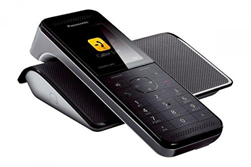 Panasonic KX-PRW110SPW - Teléfono fijo digital (manos libres, pantalla de 2.2'), color negro