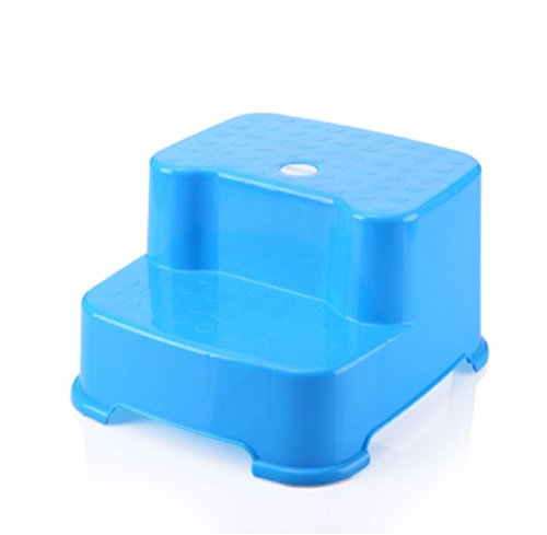 GPF Anti-Rutsch-Kunststoff-Bad-Schritt-Hocker Rutschfeste Toilette Hocker/Rutschfeste Toilette Fußstütze,Blue,1 -